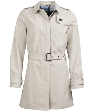 Women's Barbour Quarry Waterproof Trench Jacket - Mist