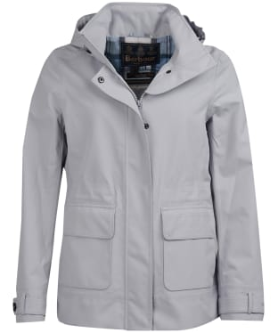 Women's Barbour Retreat Waterproof Jacket - Ice White