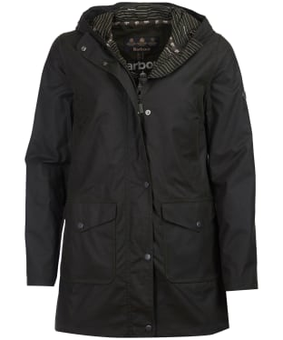 Women's Barbour Seahouse Waxed Jacket - Sage