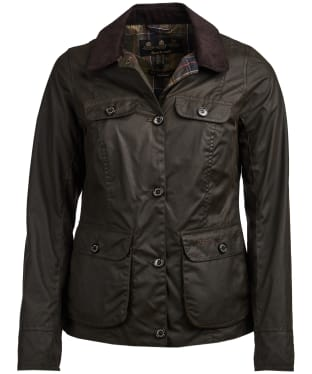 Women's Barbour Nidd Waxed Jacket - Olive
