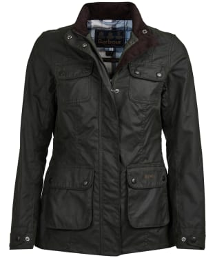 Women's Barbour x Sam Heughan Wheatsheaf Waxed Jacket - Sage