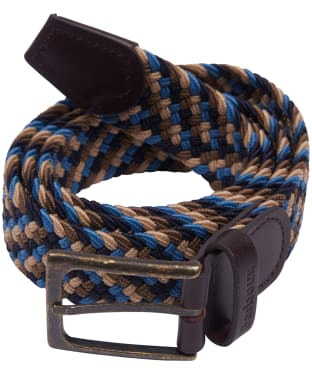 Men's Barbour Ford Belt - Blue / Navy / Stone