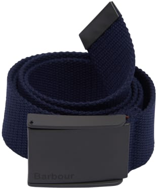 Men's Barbour Webbing Belt - Navy