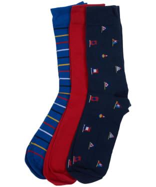 Men's Barbour Flag Stripe 3 Pack Sock Gift Set