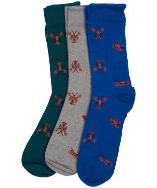 Men's Barbour Lobster Sock Gift Set - Blue / Grey / Green