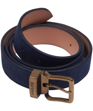 Men's Barbour Suede Belt - Navy