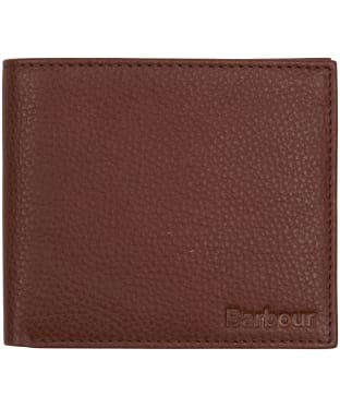 Men's Barbour Two Tone Leather Billfold Wallet - Tan