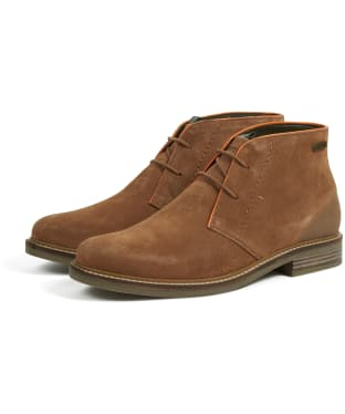 Men's Barbour Readhead Suede Chukka Boots - Cola Suede