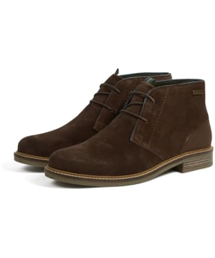 Men's Barbour Readhead Chukka Boots - Dark Brown Suede