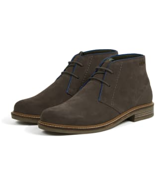 Men's Barbour Readhead Suede Chukka Boots - Grey Suede