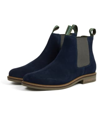 Men's Barbour Farsley Suede Boots - Ink Blue Suede