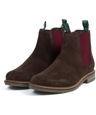 Men's Barbour Farsley Suede Boots - Brown Suede