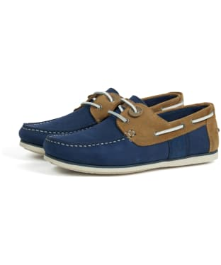 Men's Barbour Capstan Boat Shoes - Light Blue / Sand