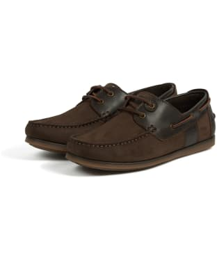 Men's Barbour Capstan Boat Shoes - Dark Brown