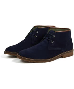 Men's Barbour Kalahari Desert Boots - Navy Suede