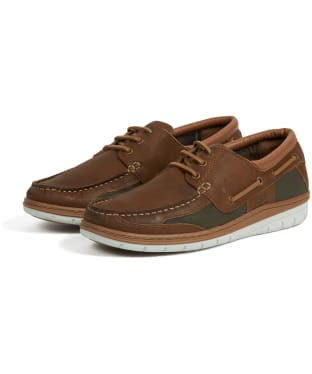 Men's Barbour Fathom Boat Shoes - Caramel Nubuck