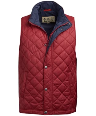 Men's Barbour Ampleforth Quilted Gilet - Biking Red