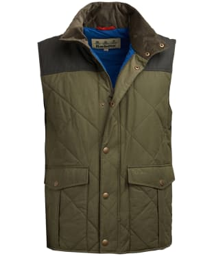 Men's Barbour Harpham Quilted Gilet - Fern