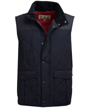 Men's Barbour Harpham Quilted Gilet - Navy