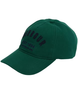 Men's Barbour Prep Logo Sports Cap - Racing Green