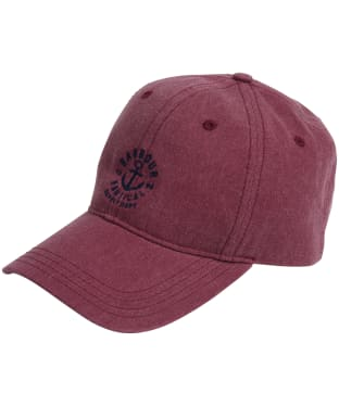 Men's Barbour Nautical Washed Cap - Ruby