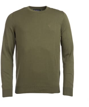 Men's Barbour Pima Cotton Crew Neck Sweater - Burnt Olive