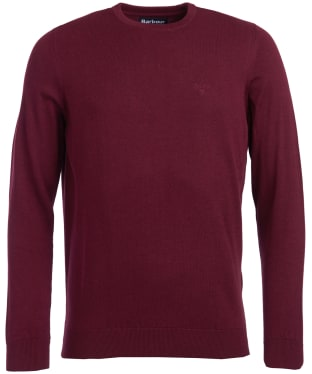 Men's Barbour Pima Cotton Crew Neck Sweater - Ruby Marl