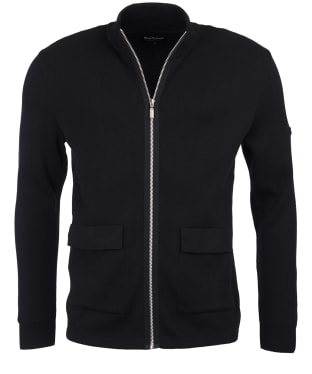 Men's Barbour International Podium Sweater Jacket - Black