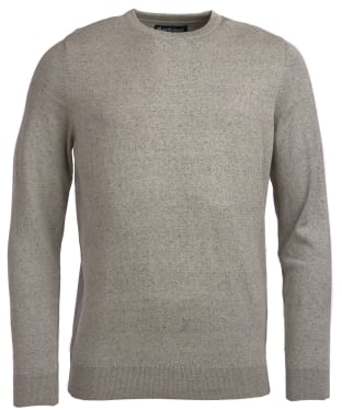 Men's Barbour Linen Mix Crew Sweater - Light Grey