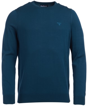 Men's Barbour Light Cotton Crew Neck Sweater - Spruce