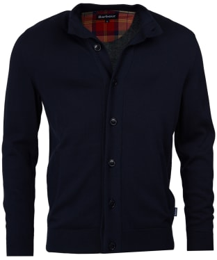 Men's Barbour Huntly Button Thru Sweatshirt - Navy
