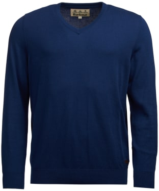 Men's Barbour Alfreton V-Neck Sweater - Blue