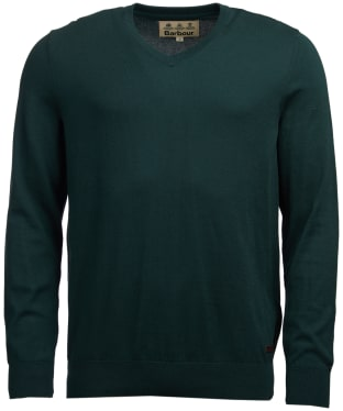 Men's Barbour Alfreton V-Neck Sweater - Green