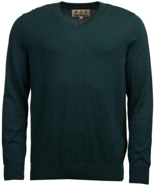 Men's Barbour Alfreton V-Neck Sweater - Green