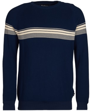 Men's Barbour Beam Crew Neck Sweater - Indigo