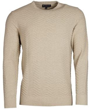 Men's Barbour Herringbone Crew Sweater - Oyster Grey