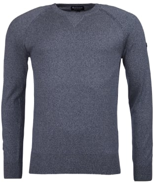 Men's Barbour International Sprocket Crew Neck Sweater - Grey