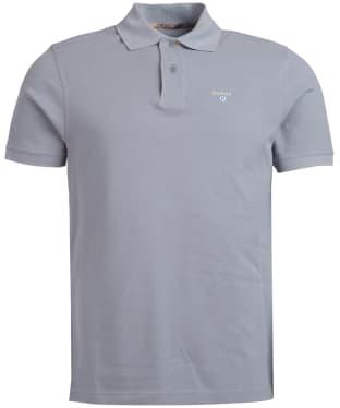 Men's Barbour Tartan Pique Polo Shirt - Flint
