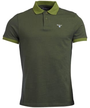 Men's Barbour Sports Polo Mix Shirt - Vintage Green