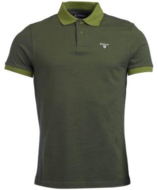 Men's Barbour Sports Polo Mix Shirt - Vintage Green