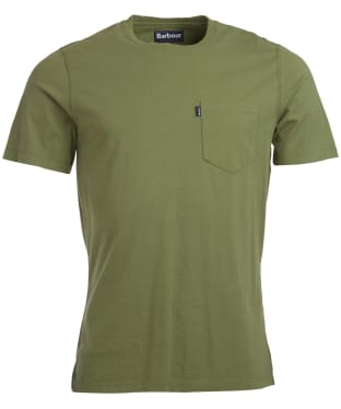 Men's Barbour Essential Pocket Tee - Burnt Olive