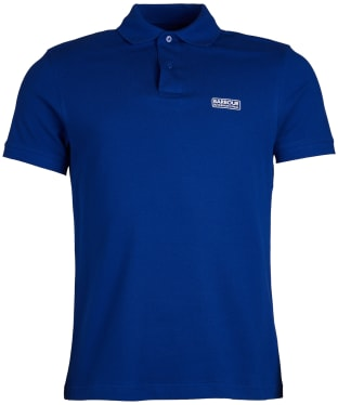 Men's Barbour International Essential Polo - Aragon Blue