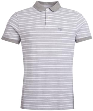 Men's Barbour Bedford Stripe Polo Shirt - Smoke