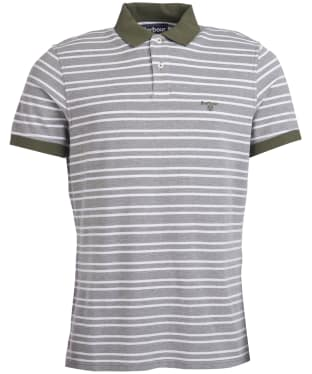 Men's Barbour Bedford Stripe Polo Shirt - Burnt Olive
