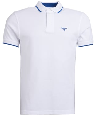 Men's Barbour Ambleside Tipped Polo Shirt - White