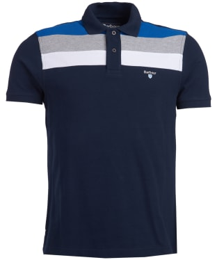 Men's Barbour Shaldon Panel Polo Shirt - New Navy