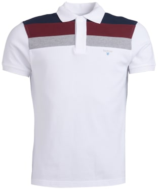 Men's Barbour Shaldon Panel Polo Shirt - White