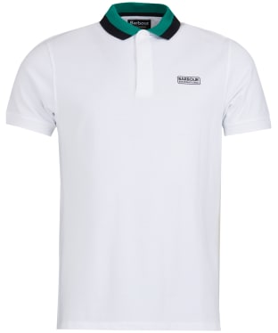 Men's Barbour International Ampere Polo - White