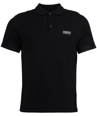 Men's Barbour International Rake Mercerised Polo Shirt - Black