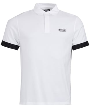 Men's Barbour International Rake Mercerised Polo Shirt - White